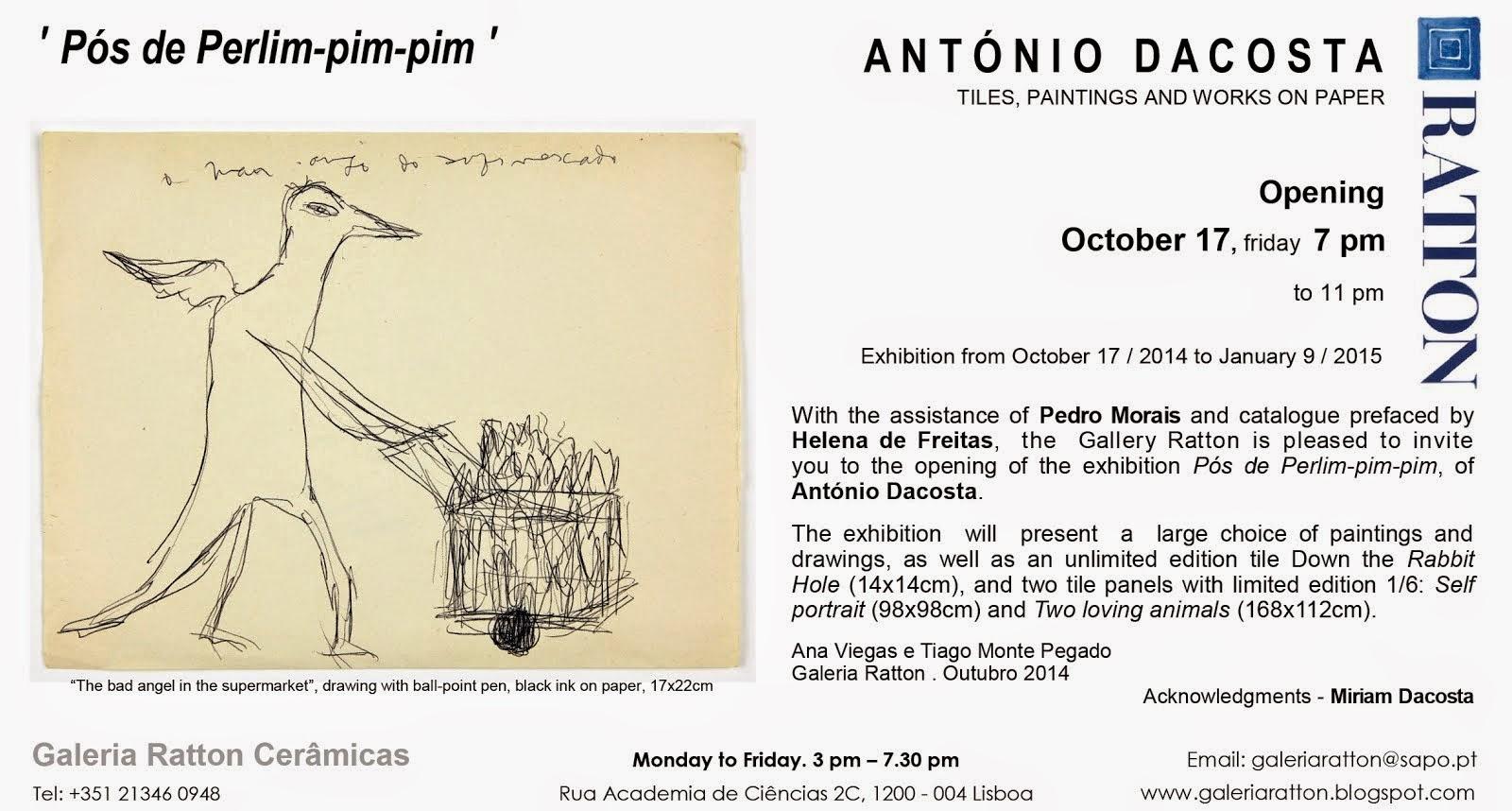 António Dacosta Convite EN