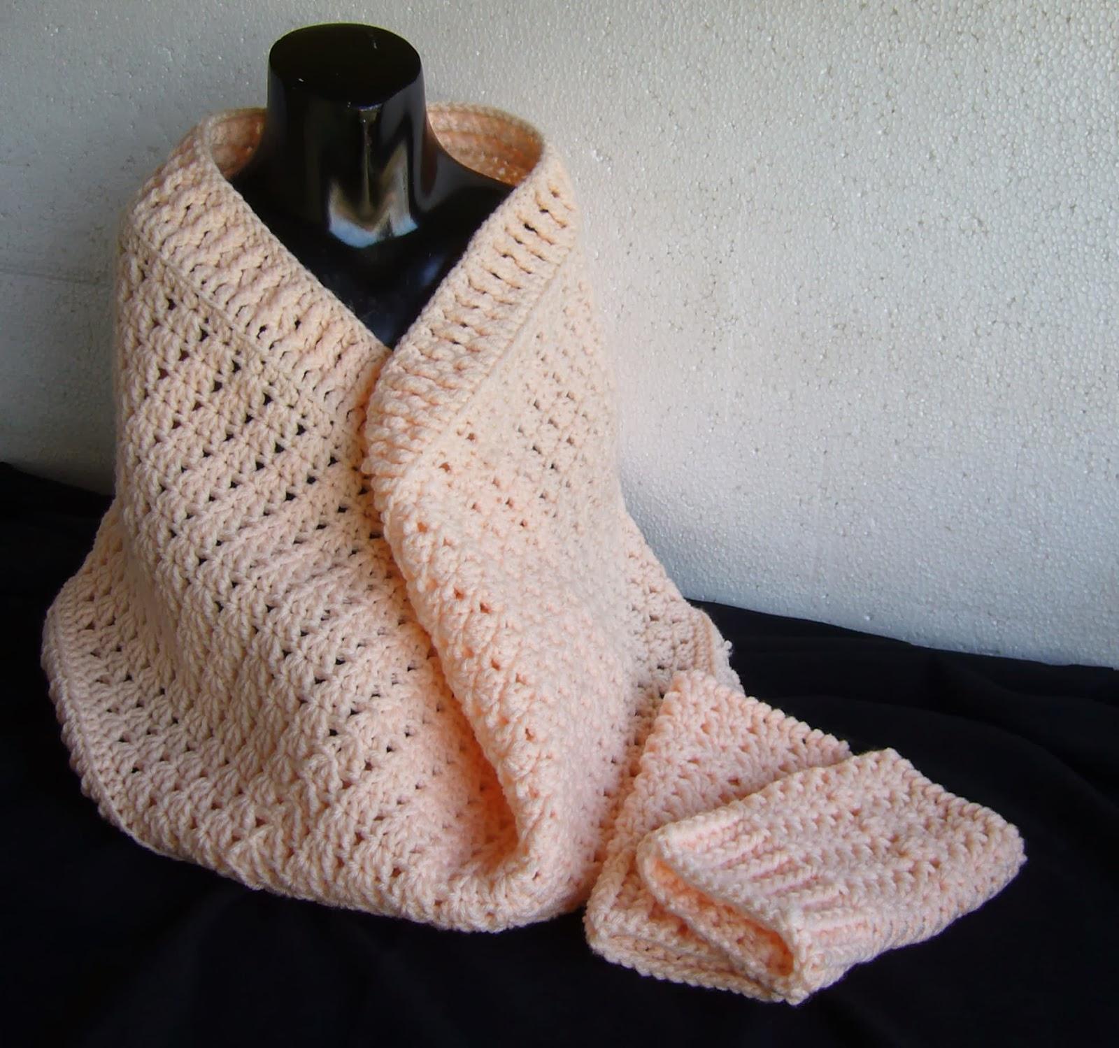 peach crochet zola cowl