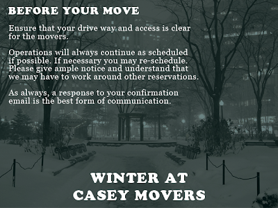 Winter at Casey Movers