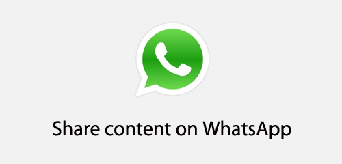 Share Your Content On WhatsApp Without Using Api