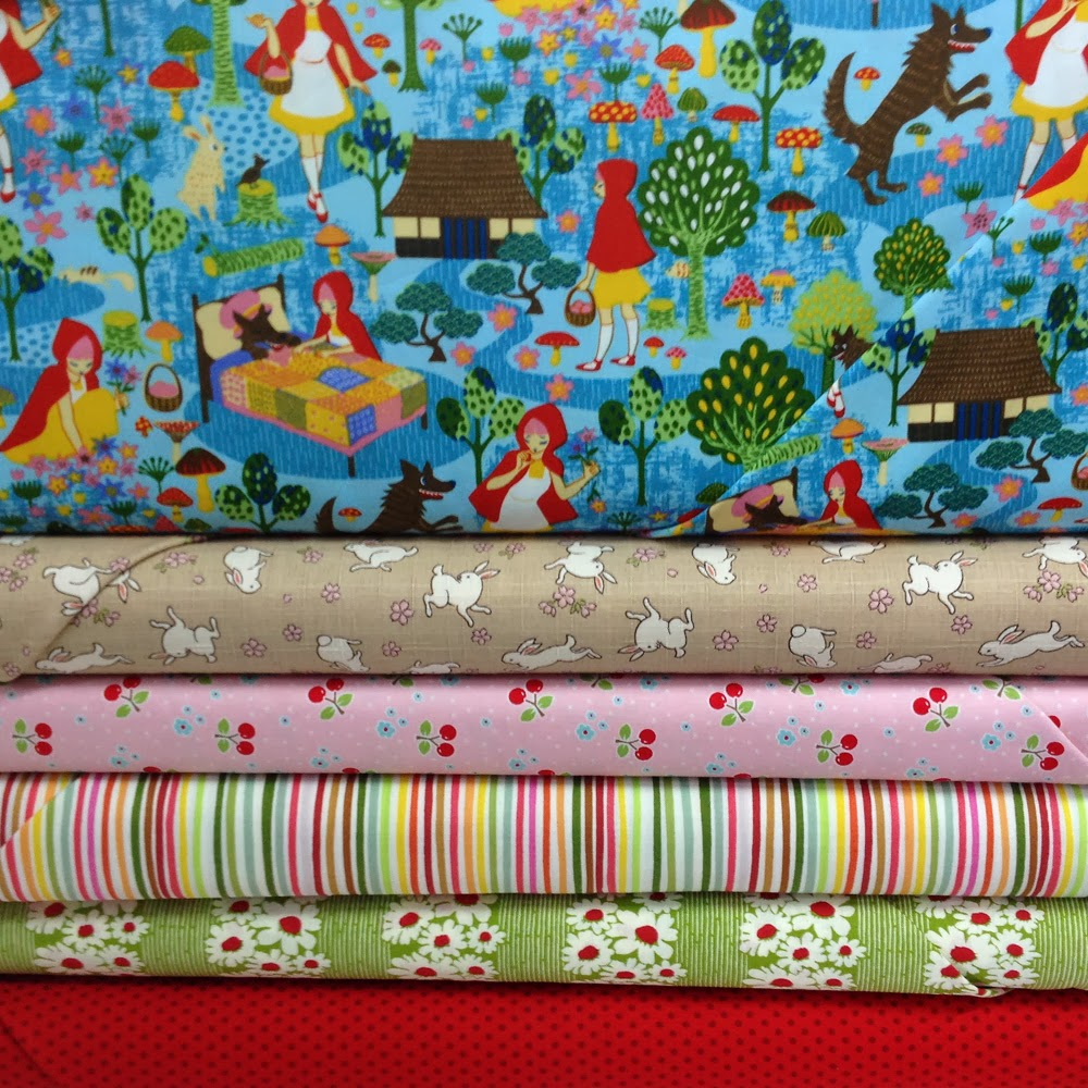 Voodoo rabbit fabric fabric friday little red riding hood for Little blue truck fabric