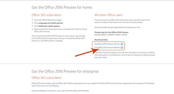 clave para office 2016 o365