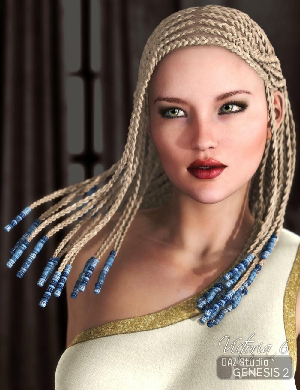 Vidal Tresses pour Genesis 2 Femme