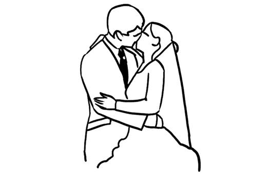 поцелуй влюбленных