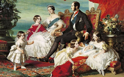 Queen Victoria, Prince Albert and family in 1846, painted by Franz Xavier Winterhalter