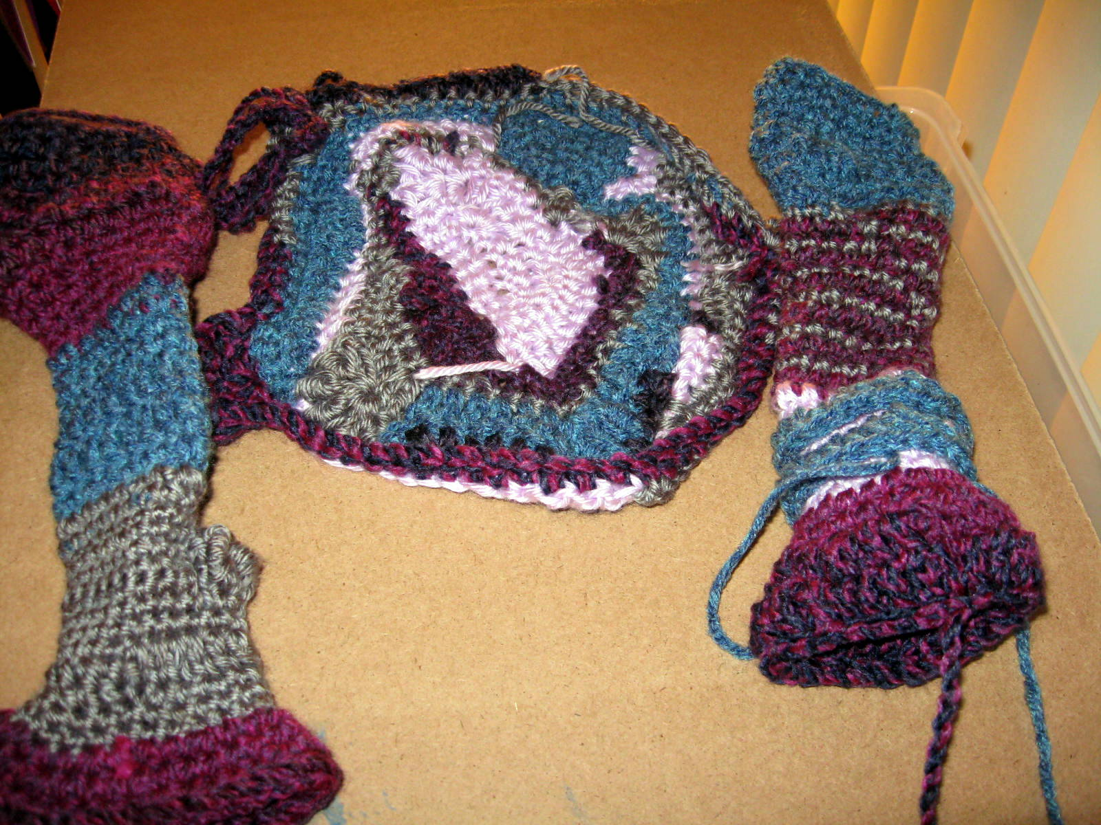 Jigsaw Blanket Knitting Pattern : Wild Jigsaw Knit Crochet