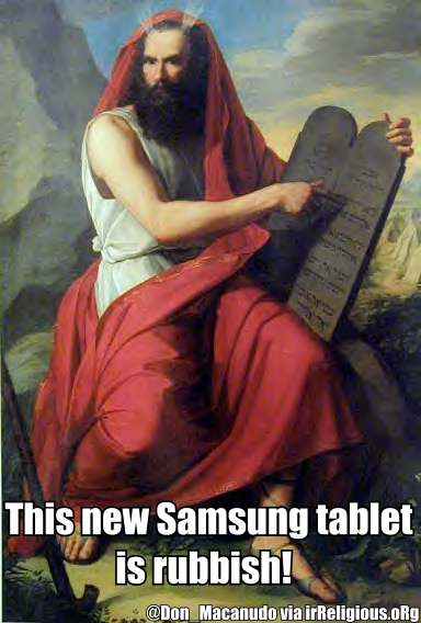 Funny Moses New Samsung Tablet Meme Picture