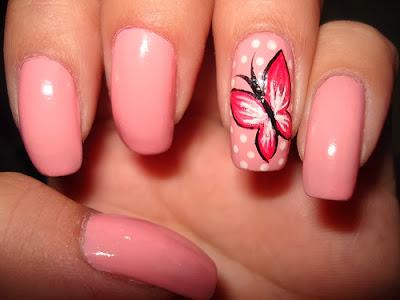 Como decorar unhas com borboletas