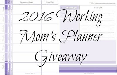 Enter the 2016 Working Mom's Daily Do's Planner Giveaway. Ends 11/30