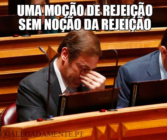 Imagem de Passos Coelho - Uma Moção de Rejeição, sem Noção da Rejeição.