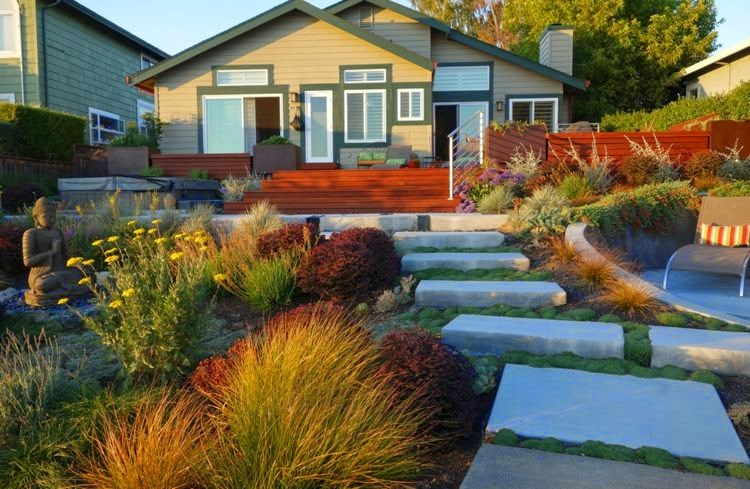 Front garden design pictures and examples