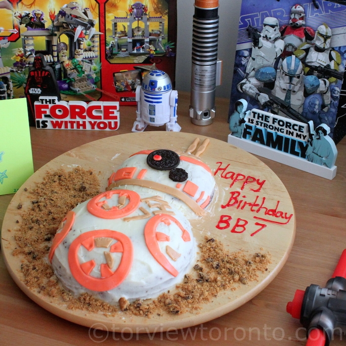 Star Wars Inspired BB8 Birthday Cake