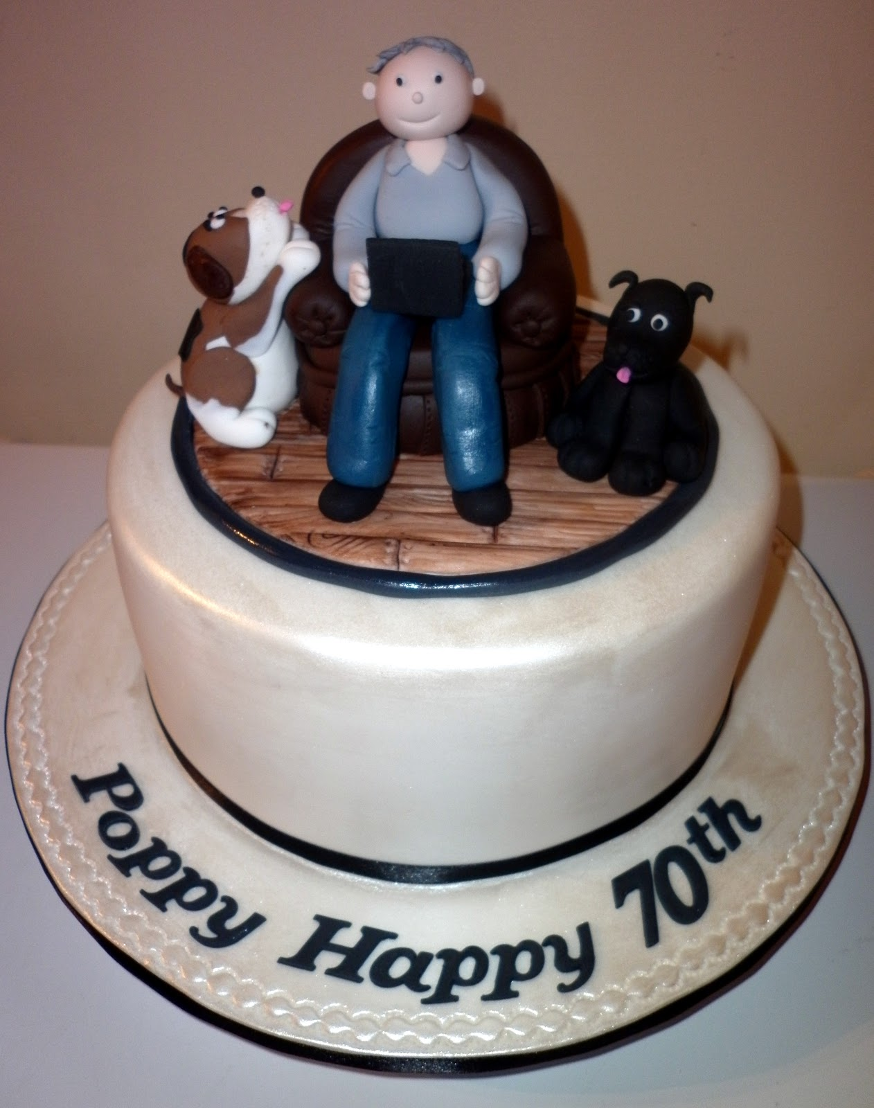 Images Of A Birthday Cake For A Man : Caketopia: 70th Birthday Cake