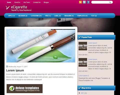 eCigarette Blogger Theme