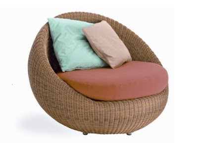 Oval Shaped Modern Rattan Sofa #1