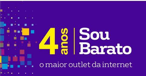 804198d2d9d51 comemorar seus quatro anos, o Sou Barato, outlet da Americanas.com, oferece  hoje, 06 10, descontos em produtos de diversas categorias, como telefonia,