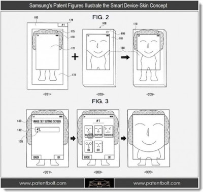 [Noticia] Samsung registra conceito de película filme inteligente que estende a tela do smartphone