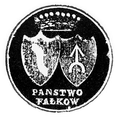 Pieczęć na dokumencie z 1827 r. w archiwum przy kolegiacie św. Mikołaja w Końskich; średnica 32 mm.