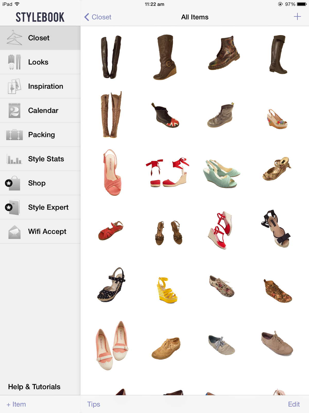 How I organise my shoe collection using ikea and Stylebook digital wardrobe app.