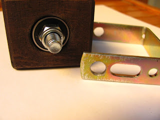 Ball bearing and wooden cube