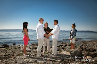 Patricia Stimac, Seattle Wedding Officiant, celebrates Jeff and Ian's wedding
