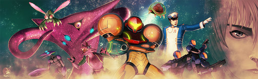 Metroid and friends por Roguetwo
