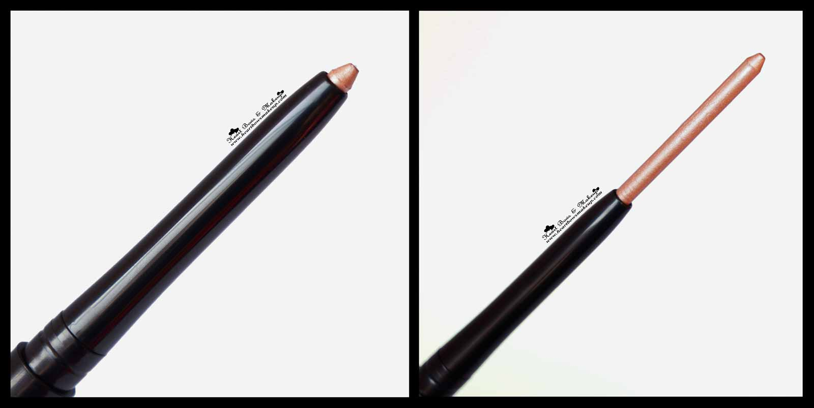 Maybelline Colorshow Crayon Khol Shiny Beige Review Swatches