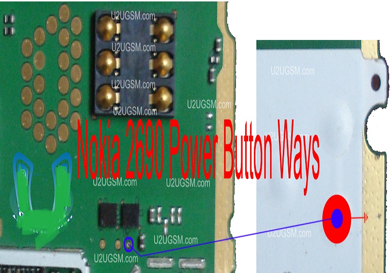 Nokia 2690 Power Button On Off Problem Ways Jumpers-Solution.