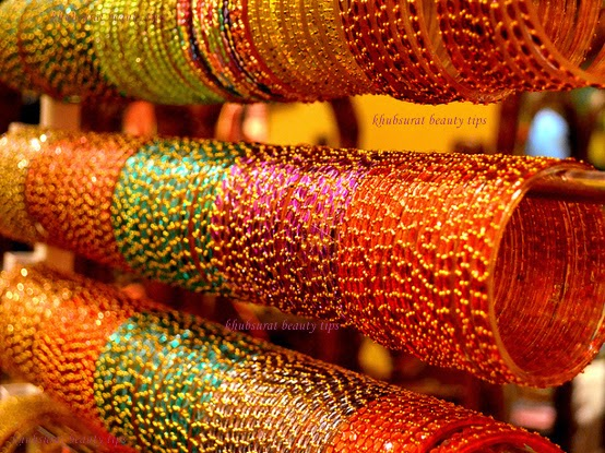 Orange and pink colors bangles