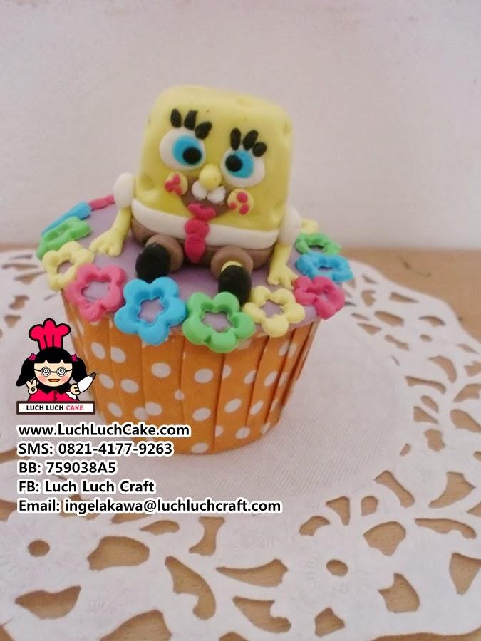 cupcake spongebob daerah surabaya - sidoarjo