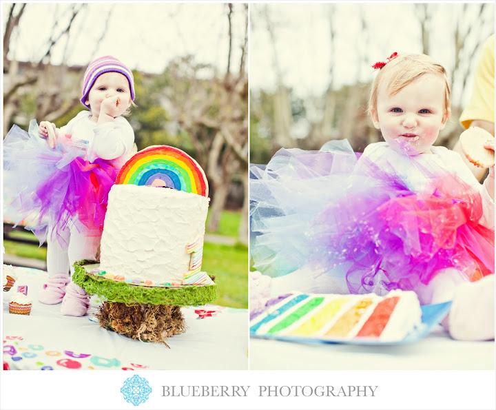 san francisco baby birthday photography rainbow birthday at park