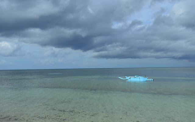 A Boat in the sea
