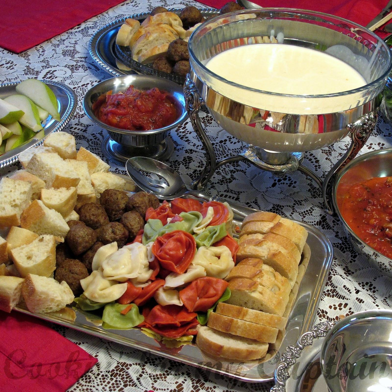 cookin 39 for my captain fondue fun 2 cheese honey fondue. Black Bedroom Furniture Sets. Home Design Ideas