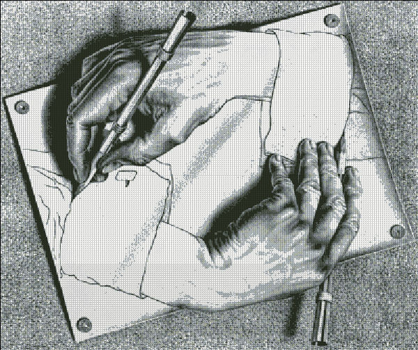 Escher - Drawing Hands