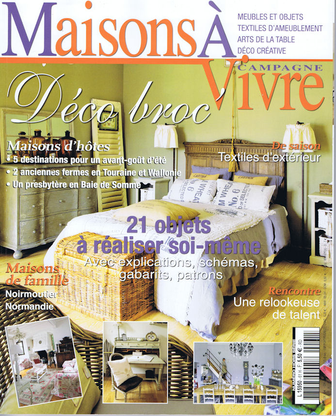 tapisserie ameublement et restauration mobilier dans le magazine maisons vivre campagne. Black Bedroom Furniture Sets. Home Design Ideas