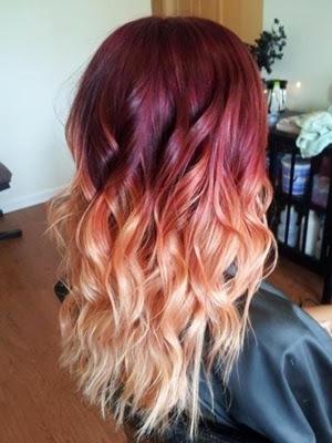 peinados 2014 look puntas de colores