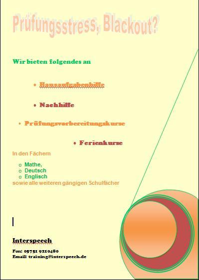 the linguistics flyer nachhilfe begr252ndung