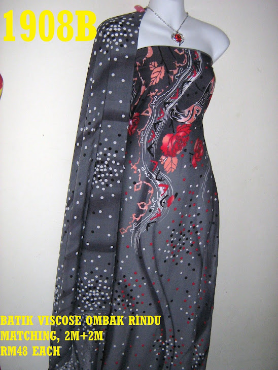 BVM 1908B: BATIK VISCOSE OMBAK RINDU MATCHING, EXCLUSIVE DESIGN, 2M+2M