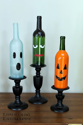 Botellas decoradas halloween