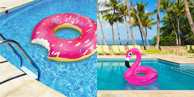 Fun Summer Pool Floats Donut Flamingo