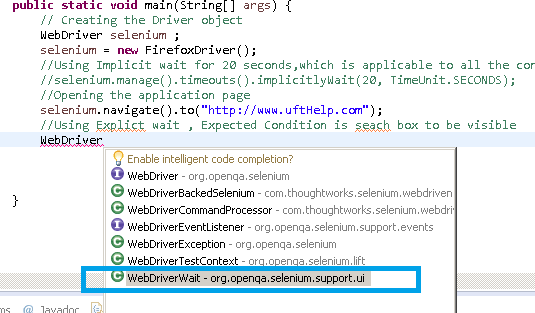 WebDriverWait in selenium