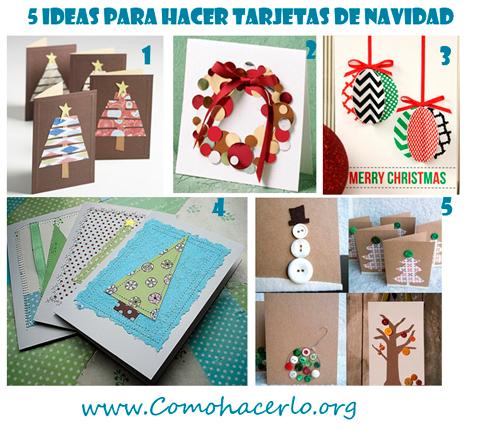 5 Tarjetas de Navidad para hacer tú mismo  Como hacer...