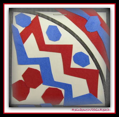 photo of: Patriotic Quilt Squares in Response to &quot;Red, White and Blue&quot; by Debbie Clement