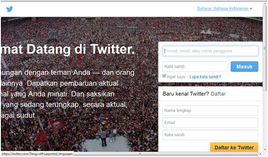 Daftar ke Twitter
