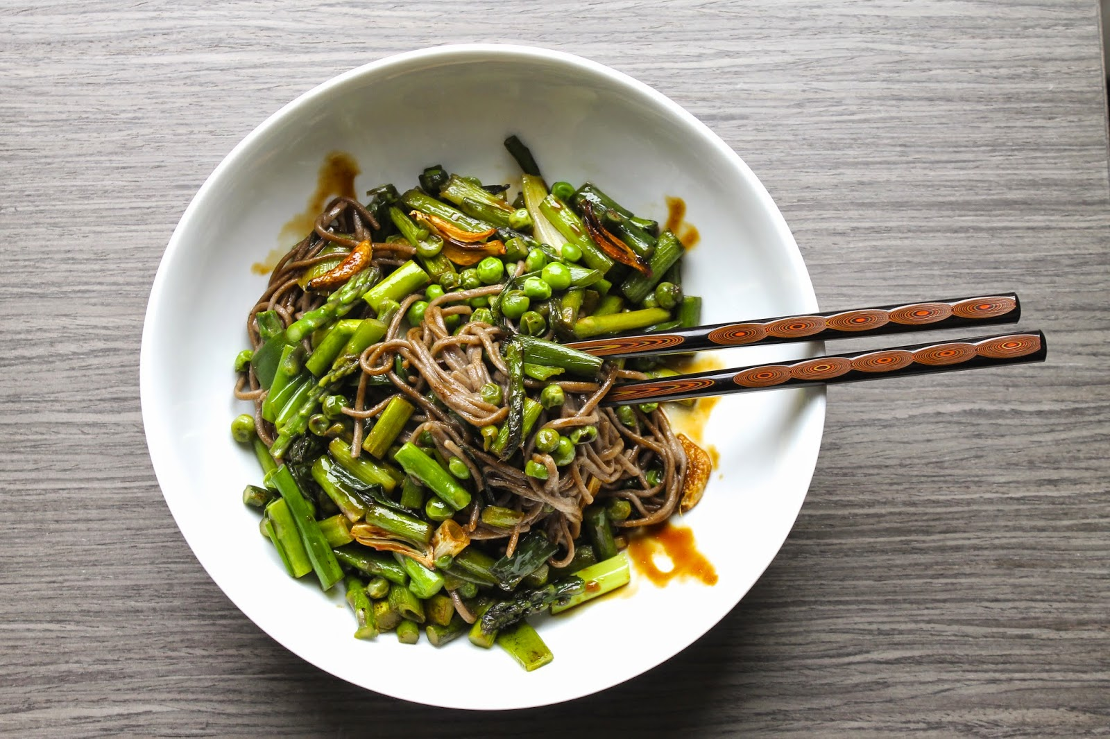 Saffron & Sun: Soba Noodles with Spring Vegetables and ...