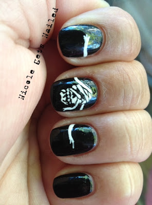 Halloween Mummy Nails Nail Art