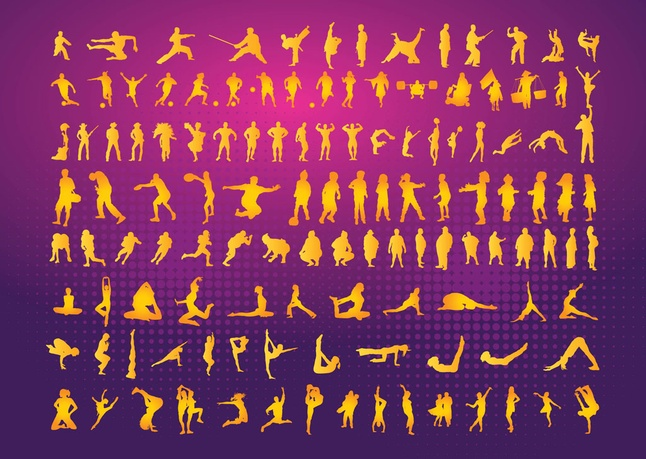 Free Vector Silhouettes Clipart