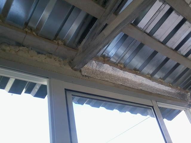 Крыша на балконе своими руками