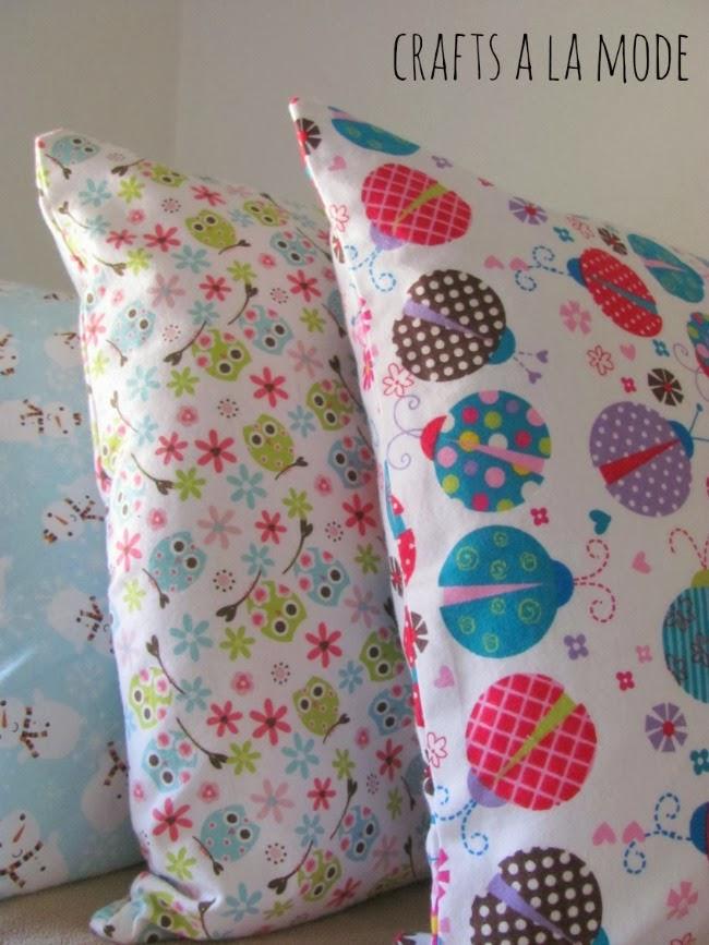 kids flannel pillowcase DIY homemade