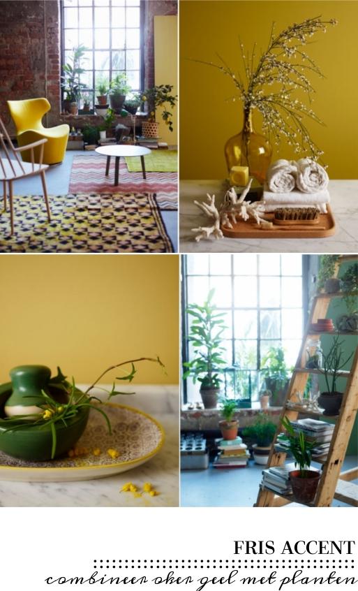 Hoe gebruik je geel in je interieur villa d 39 esta interieur en wonen - Hoe kleed je een witte muur ...